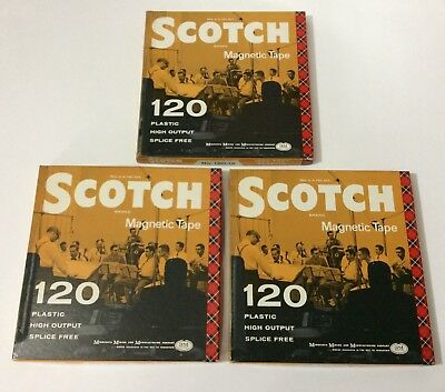 (3) SCOTCH Used Vintage Reel to Reel Tapes 7 1/2 IPS Recorded Orchestra Music