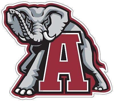 University of Alabama Crimson Tide NCAA Color Die Cut Vinyl Decal / Sticker