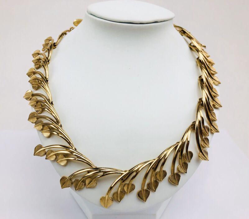 Vintage Germany Gold Tone GROSSE Designer Choker Art Deco Necklace