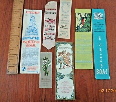 ASST. OF ANTIQUE & VINTAGE BOOKMARKS: APPOLLO CHOCOLATE, BOAC AIRLINES, ETC.