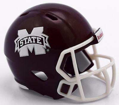 MISSISSIPPI STATE BULLDOGS NCAA Cupcake / Cake Topper Mini Football Helmet