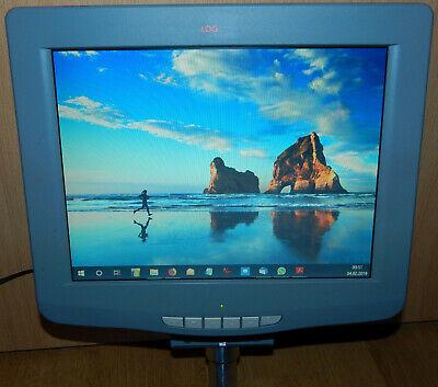 12 FLACHBILDSCHIRM TFT LOGWARE 400A 800X600 SVGA SUB D HD15 RGBHV VGA 12V 0 6A