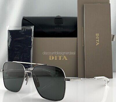 DITA FLIGHT SEVEN Sunglasses Black Silver Gray Polarized Lens DTS111-57-05 (Dita Flight)