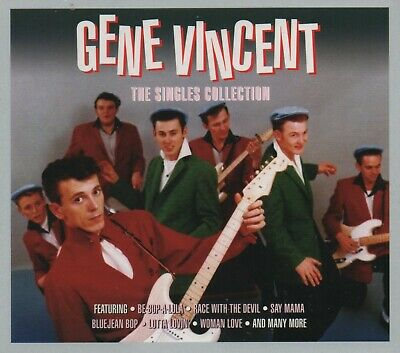 GENE VINCENT - THE SINGLES COLLECTION - 3 CDS - NEW!!