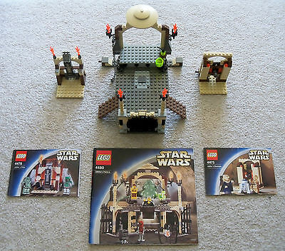LEGO Star Wars - Rare Jabba's 4480 4475 4476 with Instructions - No Minifigs