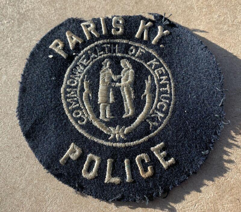 OLD VINTAGE PARIS KENTUCKY KY POLICE PATCH