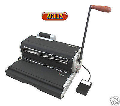Akiles Coilmac-er Coil Binding Machine Oval Holes Punch With Inserter New