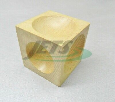 Wood Dapping Block Wooden Doming Cube Shape Forming Tool