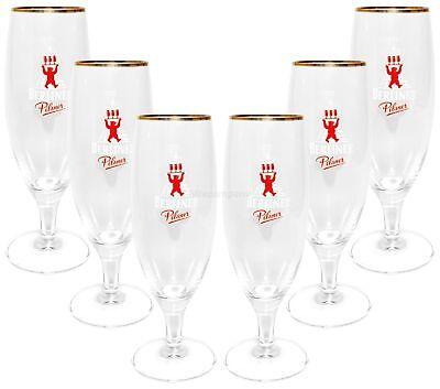 Berliner Pilsner Bierpokal Glas Gläser-Set - 6x Pilstulpen 0,3l geeicht Bier Pilsner Set