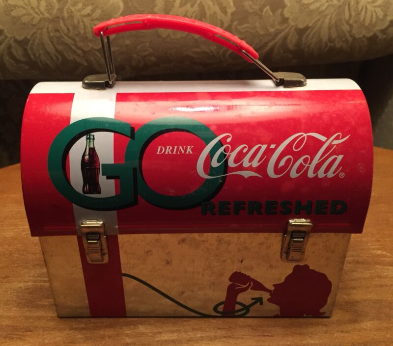Coca Cola Coke Miniature Collectible Tin Metal Lunch Box ~  **Nice Eye Appeal**
