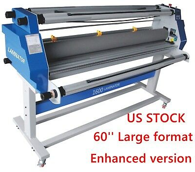 Usa 60 Full-auto Take Up Low Temp Large Format Hot Cold Roll Laminator Machine