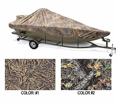 "CAMO COVER WIDE ALUMINUM V-HULL FISHING BOAT WALK-THRU W/S 20'6""-21'6"" 100""B OB"