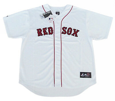 Mlb Red Sox Jersey - Boston Red Sox MLB Majestic Team Men's Replica Jersey White Big & Tall Sizes NWT