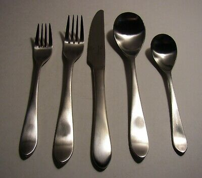 - 5 PC Robert Welch Meridian Satin 18/10 Flatware Stainless Set spoons forks knife