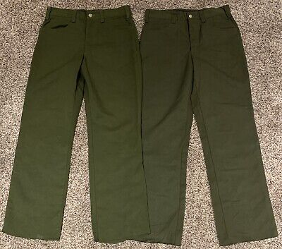 X2 Fss Aramid Wildland Firefighter Pants Cargo Forest Fire Green 30 X 32 See Pic