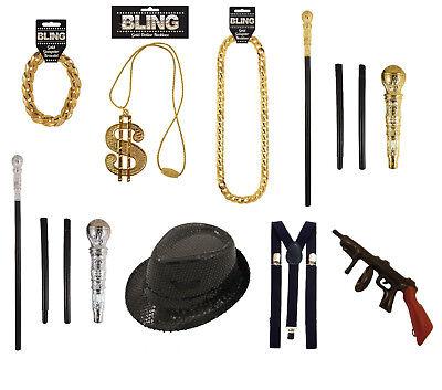 Goledenes Armband Hip Hop Rapper Gangster Schmuck Gold Pimp Zuhälter - Kostüm Schmuck Gold