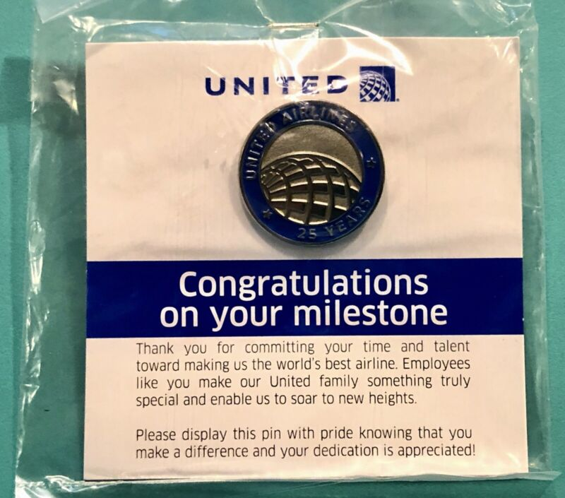 UNITED AIRLINES 25 YEAR SERVICE PIN