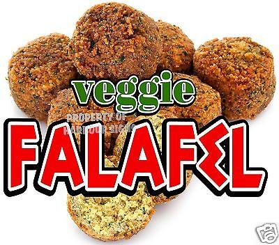 Falafel Veggie Decal 14 Concession Cart Restaurant Greek Food Truck Vinyl Menu