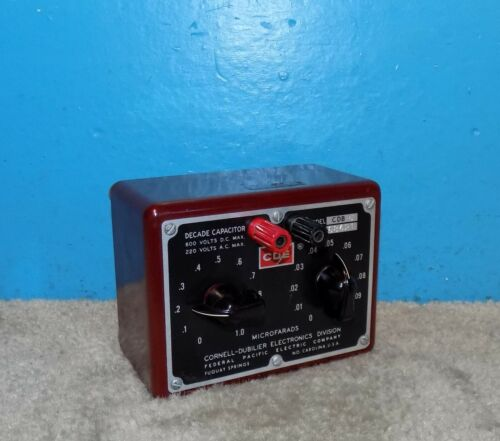CDE Cornell Dubilier CDB-5 Decade Capacitor 600V .01-1.1uf Working Free Shipping