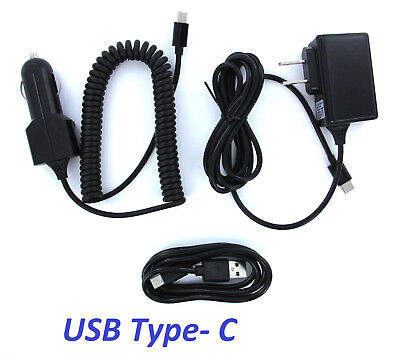 Type-C Home Wall Charger / Car Charger / Data Cable Combo for Type-C Devices