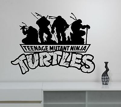 Ninja Turtles Logo Wall Decal TMNT Superhero Vinyl Sticker Art Kids Room Decor 6 ()