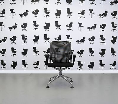 Refurbished Vitra Conference Chair- Meda - Black and Chrome