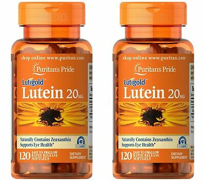 Puritan's Lutigold Lutein 20 mg 120 Softgels with Zeaxanthin