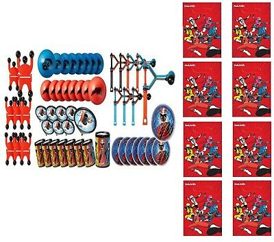 (48pc) Power Rangers FAVOR PACK  WITH 8 LOOT BAGS Party Supply Goody Bags - Power Rangers Goody Bags