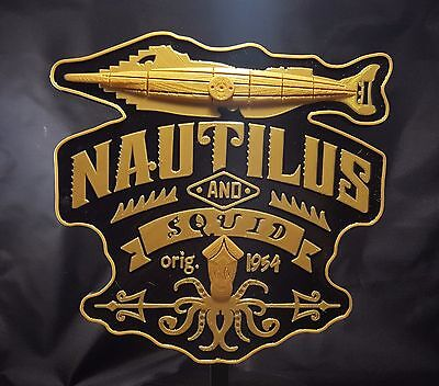 20,000 Leagues Under The Sea Ride Inspired Sign / Plaque - Gold / Black Coloring