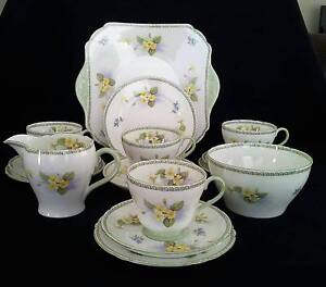 "SHELLEY TEA SET ""PRIMROSE"" #13514 C1940-66 Bayswater Bayswater Area Preview"