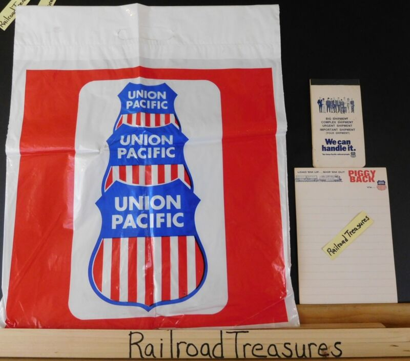 Union Pacific Items lot of 3 items Notebooks Plastic bag