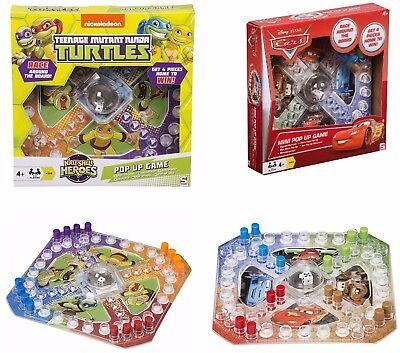Ninja Turtle Car Games (Disney Cars And Ninja Turtles Mini Pop Up Game Ludo Fun Party Family Board)