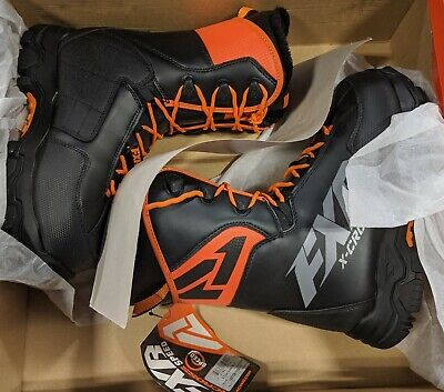 FXR X-Cross Speed Boot - Black/Orange - Men's 9 / Women's 11 - FREE SHIPPING
