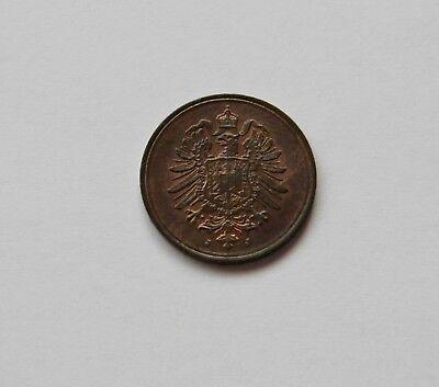 KAISERREICH: 1 Pfennig 1887 J, J. 1, stempelglanz, TOLLER MÜNZGLANZ !!!  II.