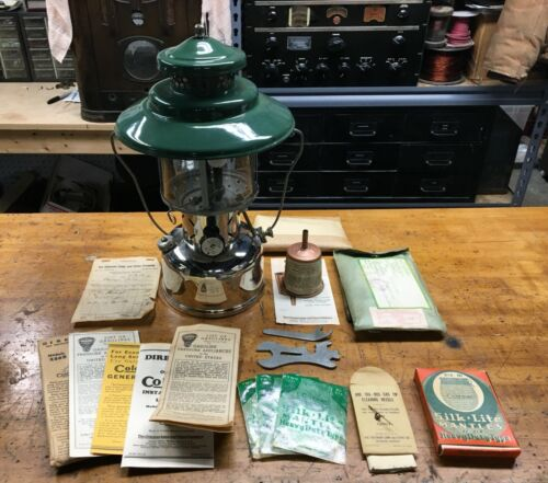 Coleman Lantern 228B - Dated 1940 - With Paperwork and Accessories - Mint!