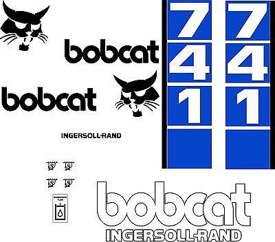 741 Replacement Decals Decal Kit Sticker Set Skid Loader Steer Fits Bobcat