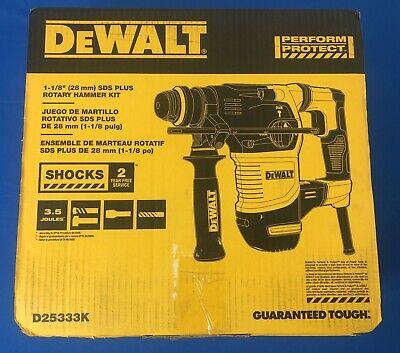 Dewalt D2533k 8.5 Amp Corded 1-18 In. Sds-plus Rotary Hammer Brand New
