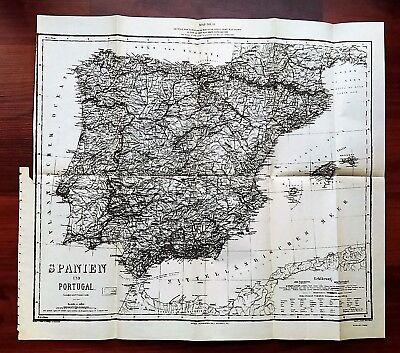1936 De Soto Expedition Commission Map Showing Spain and Portugal