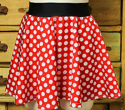 Minnie Mouse women's running skirt costume disney marathon pink red polka dots - Minnie Mouse Costumes Women