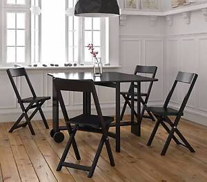 5pc Foldable Dining Chair Table Scandinavian Butterfly Flat Set Campbellfield Hume Area Preview