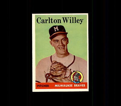 1958 Topps 407 Carlton Willey Rc Ex  D448618