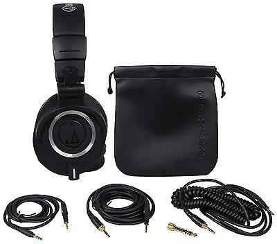 Audio Technica ATH-M50X Over Ear Professional Studio Monitor Headphones W/ Case