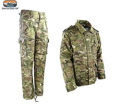 BOYS GIRLS CHILDRENS ARMY OUTFIT TROUSERS JACKET KIDS FANCY DRESS CAMO PRESENT (Childs Army Outfit)