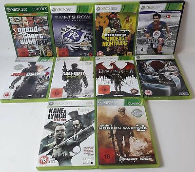 Spiele Sammlung | Xbox 360 | 10 Spiele Ü18 Dragon Age II 2 Fifa GTA IV