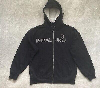 Vintage Nautica Jeans Co Mens Fleece Lined Black Hoodie