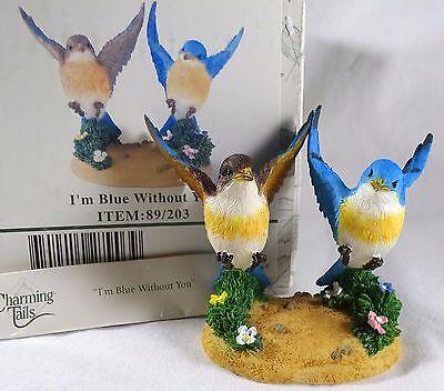 Charming Tails Figurine I'm Blue Without You NIB  bird