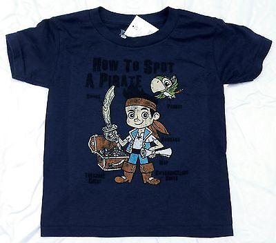 Jake And The Neverland Pirates Shirts (Disney Jake and the Neverland Pirates Navy Spot a Pirate Infant Toddler)