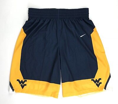 - New Nike Men's L West Virginia Mountaineers Posterize Game Shorts Blue 802306