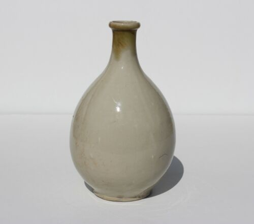 Asian Antique Korean Pottery Bottle Vase