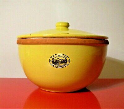 LE CASCINE DEL PIEMONTE Risottiera Ceramica 1980 Pentola Riso PIEMONTE IN BOCCA